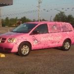Flower Express Pink Van