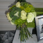 A  green lovers dream. We can make monochromatic bouquets in most shades.
