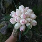 Handtied tulip bouquet.