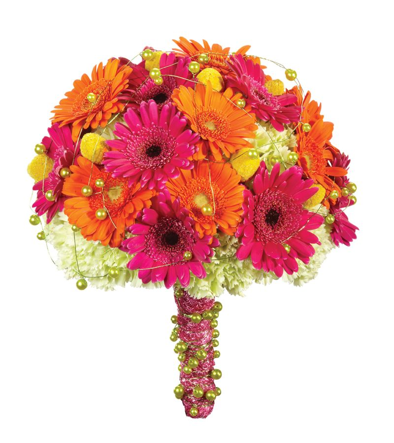 Color Daisies: Wedding Bouquets With Different Styles, Flowers, & Color