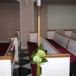 There are many options for pew/aisle markers.