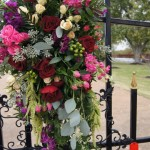 Gateway decoration for outdoor celebrations.