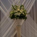Ever popular white and green altar arrangement.