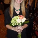 Chrissy, from our Belle Meade shop with a hand tied bouquet.